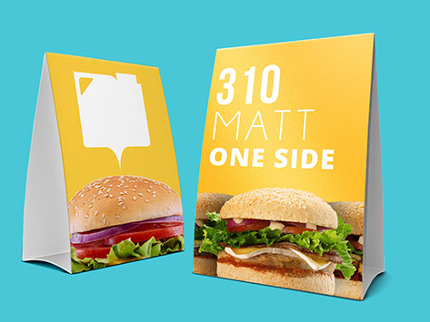 310gsm Matt One Sided Table Talker