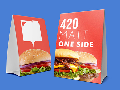 420gsm Matt One Sided Table Talker