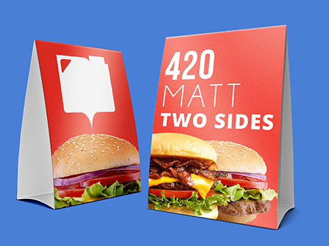 420gsm Matt Two Sided Table Talker