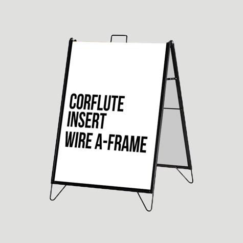 Super Saver - Corflute Insert Wire A-Frame Set